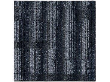 casa pura Teppichfliese »Linz«, Quadratisch, Höhe 6 mm, Selbstliegend, Gemustert, schwarz, Anthrazit 04