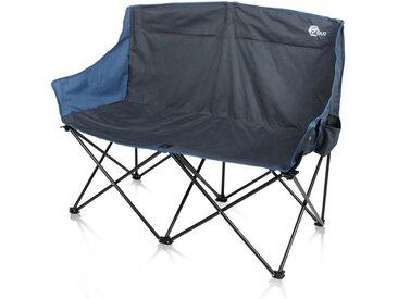 yourGEAR Faltstuhl » Bari XL Campingstuhl - großes und bequemes 2 Mann Camping-Sofa - Outdoor Klappstuhl mit 2 Getränkehaltern«