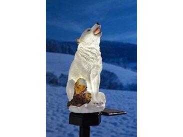 JOKA international Gartenleuchte »Solarleuchte Polarwolf mit Erdspieß« Solar Stableuchte als Eisbär