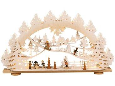 SAICO Original 3D-Lichterbogen Kinder im Schnee mit Raureif-Finish, natur, Natur
