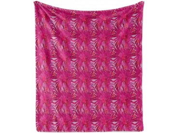 Abakuhaus Foulard »Gemütlicher Plüsch für den Innen- und Außenbereich«, Hibiskus Tropical Magenta Monstera