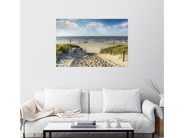 Posterlounge Wandbild, Weg in den Dünen zum Strand, Premium-Poster