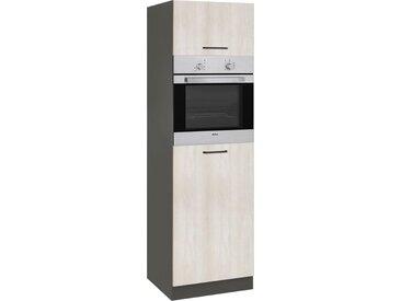 wiho Küchen Backofen/Kühlumbauschrank »Esbo« 60 cm breit, natur, Wilton Oak/Anthrazit