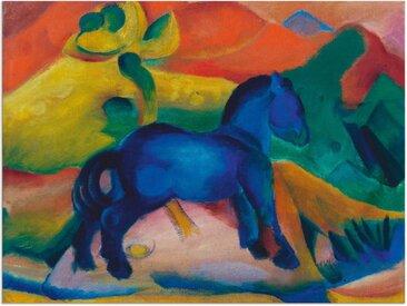 Artland Wandbild »Blaues Pferdchen Kinderbild. 1912.«, Tiere (1 Stück), Alu-Dibond-Druck