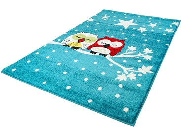 Carpet City Kinderteppich »Moda Kids 1513«, rechteckig, Höhe 11 mm, Eulen Motiv, Kurzflor