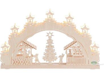 Weigla Schwibbogen »Weihnachtsmarkt«, 7-flammig