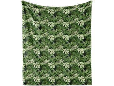 Abakuhaus Foulard »Gemütlicher Plüsch für den Innen- und Außenbereich«, Jungle Leaves Pflanzen aus dem Wald