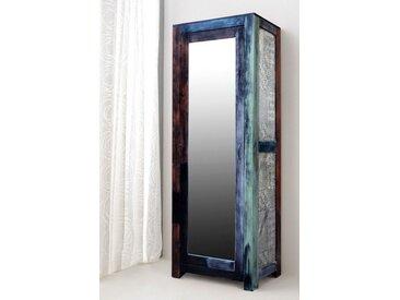 expendio Garderobenschrank »Punjab« mehrfarbig 75x200x45 cm aus Massivholz im Used Look