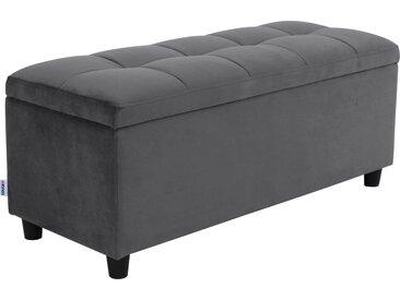 COUCH♥ Bettbank »Abgesteppt«, Mit Stauraum, Steppung in der Sitzfläche, grau, grau