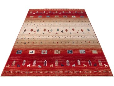 Home affaire Teppich »Mavie«, rechteckig, Höhe 10 mm, Berber-Optik, Wohnzimmer, rot, rot