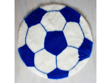 Mr. Ghorbani Teppich »Fußball Teppich 70 cm Bundesliga Fan Bereich«, Rund, Höhe 3 mm, blau, Blau