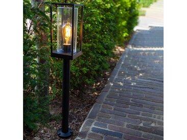 LUTEC LED Pollerleuchte »Flair aus Metall & Glas«
