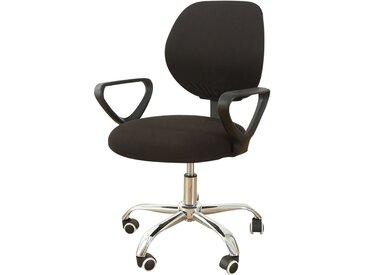 TOPMELON Bürostuhlhusse, (2-tlg/ Paar) Elastisches Material, Bürostuhlbezug, Geteilter Stuhlbezug, schwarz, Schwarz