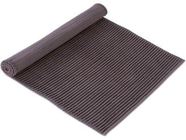 Möve Badematte »Loft Rippen« , Höhe 5 mm, fußbodenheizungsgeeignet, grau, graphite