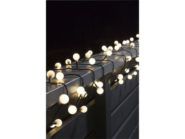 KONSTSMIDE LED Globelichterkette, schwarz, Lichtquelle warm-weiß, Schwarz