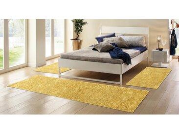 Home affaire Bettumrandung »Shaggy 30« , Höhe 30 mm, Bettläufer, gewebt, goldfarben, goldfarben