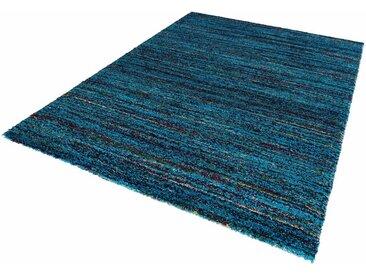 MINT RUGS Hochflor-Teppich »Chic«, rechteckig, Höhe 30 mm, mehrfarbiger weicher Langflor, blau, blau