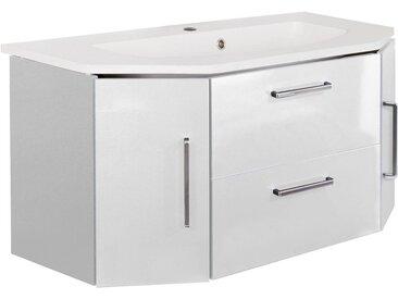 OPTIFIT Waschtisch »Ava«, Breite 110 cm, mit Mineralgussbecken, weiß, weiß Glanz/weiß Glanz
