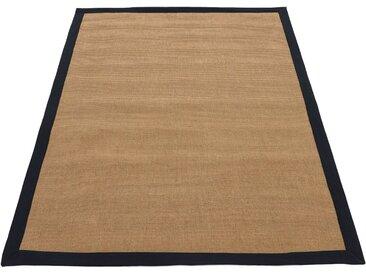 carpetfine Sisalteppich »Sisal«, rechteckig, Höhe 5 mm, schwarz, schwarz