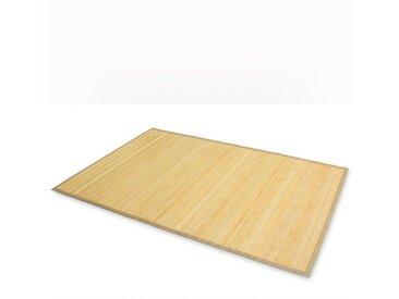 Homestyle4u Teppich, rechteckig, Höhe 17 mm, Bambusteppich Bambusmatte, verschiedene Größen, natur, Natur