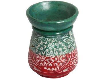 Casa Moro Duftlampe » Orientalische Duftlampe Shakir-5 aus Soapstone geschnitzt 10x10x11 cm (B/T/H) Diffusor, Teelicht-Halter für Aromatherapie