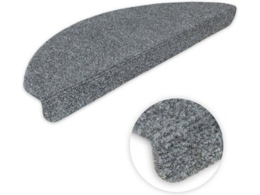 Metzker® Stufenmatte »Ramon MW«, halbrund, Höhe 2 mm, 14 Stück im Set, grau, 14 St., Grau