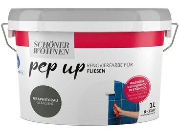 SCHÖNER WOHNEN-Kollektion SCHÖNER WOHNEN FARBE Renovierfarbe »pep up - graphitgrau«, glänzend, für Fliesen, 1 l, grau, 1 l, grau