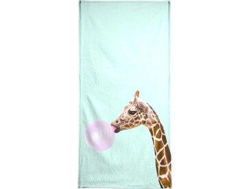 Juniqe Strandtuch »Giraffe« (1-St), Weiche Frottee-Veloursqualität
