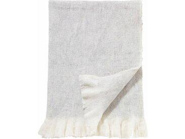 damai Plaid »Sutherland«, mit feinen Fransen, weiß, wollweiß