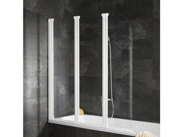 Schulte SCHULTE Badewannenfaltwand »Komfort«, 3-teilig, weiß, beidseitig montierbar, alpinweiß