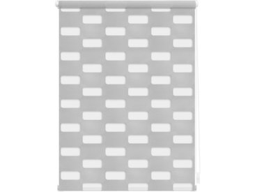 LICHTBLICK ORIGINAL Doppelrollo »Duo Rollo Klemmfix Arena«, Lichtschutz, ohne Bohren, im Fixmaß, grau, grau
