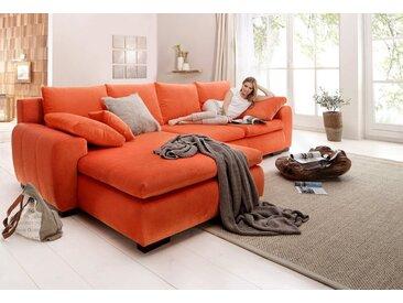 Home affaire Ecksofa »Cara Mia«, in 2 Bezugsqualitäten, orange, ohne Bettfunktion, orange
