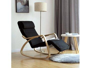 SONGMICS Sessel »LYY11G LYY10BV1«, Schaukelstuhl, Relaxstuhl, schwarz, schwarz, schwarz