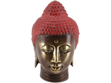 Guru-Shop Buddhafigur »Buddha Kopf, Buddha Büste, Figur aus Messing 7..«, Modell 1