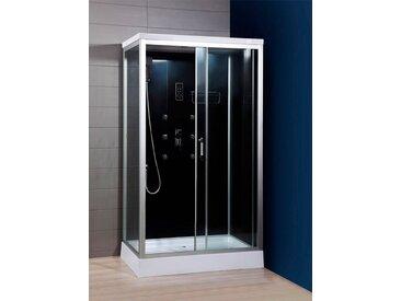 HOME DELUXE Komplettdusche »Wave XL«, BxT: 120x80 cm, Sicherheitsglas, 1-tlg., mit LED Beleuchtung und Radio