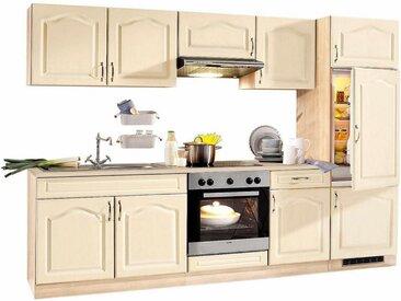 wiho Küchen Küchenzeile »Linz«, ohne E-Geräte, Breite 270 cm, natur, vanille-eiche