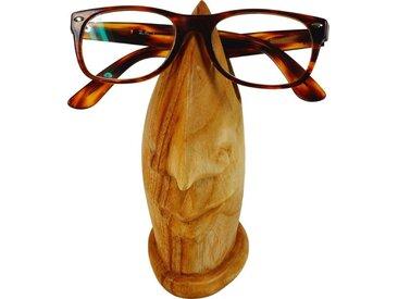 Guru-Shop Dekoobjekt »Brillenständer aus Holz - hellbraun«, braun, hellbraun