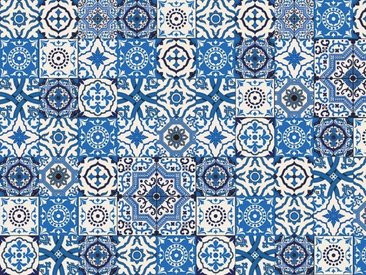 Artland Küchenrückwände »PGMart: Orientalische Fliesen«, blau, 80x60 cm, Blau