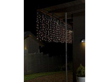KONSTSMIDE LED Lichtervorhang, weiß, 400 LEDs, Lichtquelle warm-weiß, Transparent