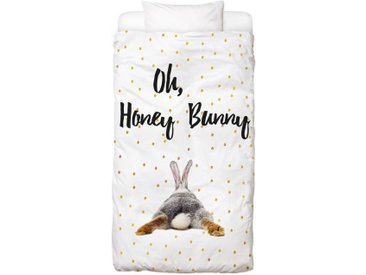 Juniqe Bettwäsche »Honey Bunny«, In vielen weiteren Designs erhältlich, 1 St. x 155 cm x 220 cm