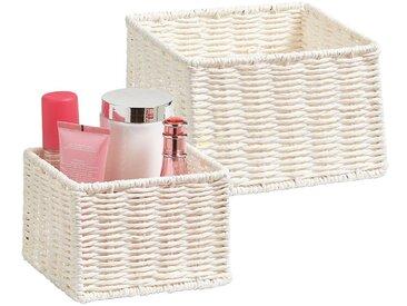 ZELLER Aufbewahrungskorb »Aufbewahrungskörbchen« (Set, 2 Stück), Filzkorb, ideal fürs Bad, Wohnzimmer oder Büro