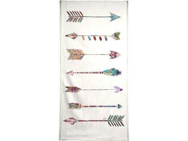 Juniqe Handtuch »Seven Arrows« (1-St), Weiche Frottee-Veloursqualität