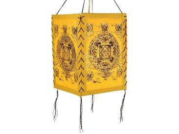 Guru-Shop Deckenleuchten »Lokta Papier Hänge Lampenschirm, Deckenleuchte..«, Buddha Mandala gelb