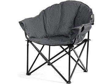 COSTWAY Campingstuhl »Campingstuhl« Campingstuhl Gepolsterter Moon Chair, Faltstuhl Rund mit Becherhalter, grau, Grau