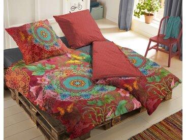 hip Bettwäsche »Satin Wende-Bettwäsche NOVALI«, Mandalas und Blumen in Gute-Laune-Farben, 200 cm x 200 cm