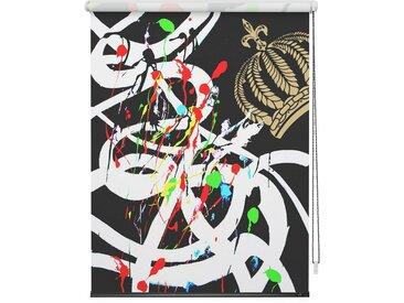 POMPÖÖS by Lichtblick Seitenzugrollo »Verdunkelungsrollo Klemmfix«, verdunkelnd, ohne Bohren, freihängend, bedruckt