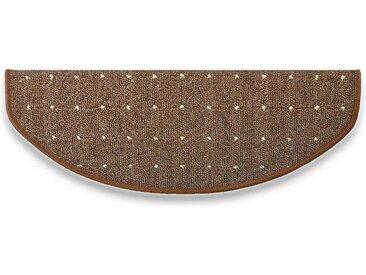 Kubus Stufenmatte »Plymouth«, Halbrund, Höhe 5 mm, beige, Beige