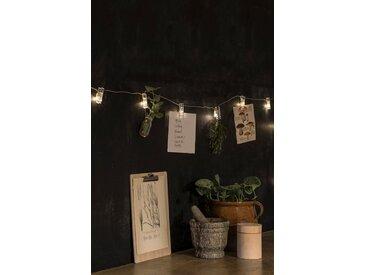 KONSTSMIDE LED Lichterkette, mit Fotoclips, Lichtquelle warm-weiß, Klar