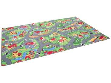 Snapstyle Kinderteppich »Kinder Spiel Teppich Little Village Grün«, Höhe 4 mm