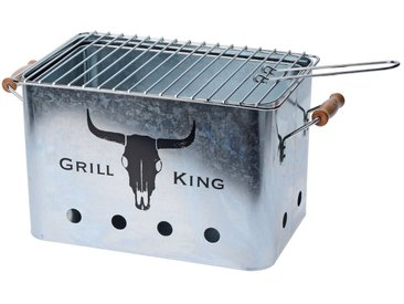 HTI-Living Holzkohlegrill »Grill King«, silberfarben, Silber